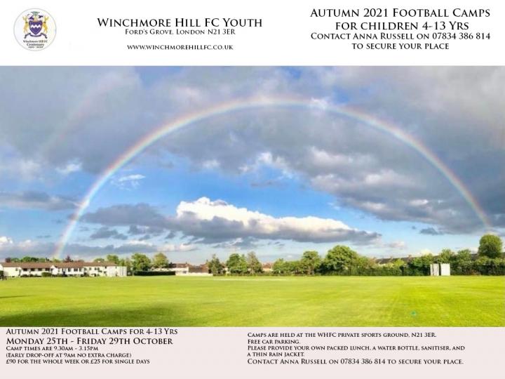 Autumn Half Term Football Camps 2019