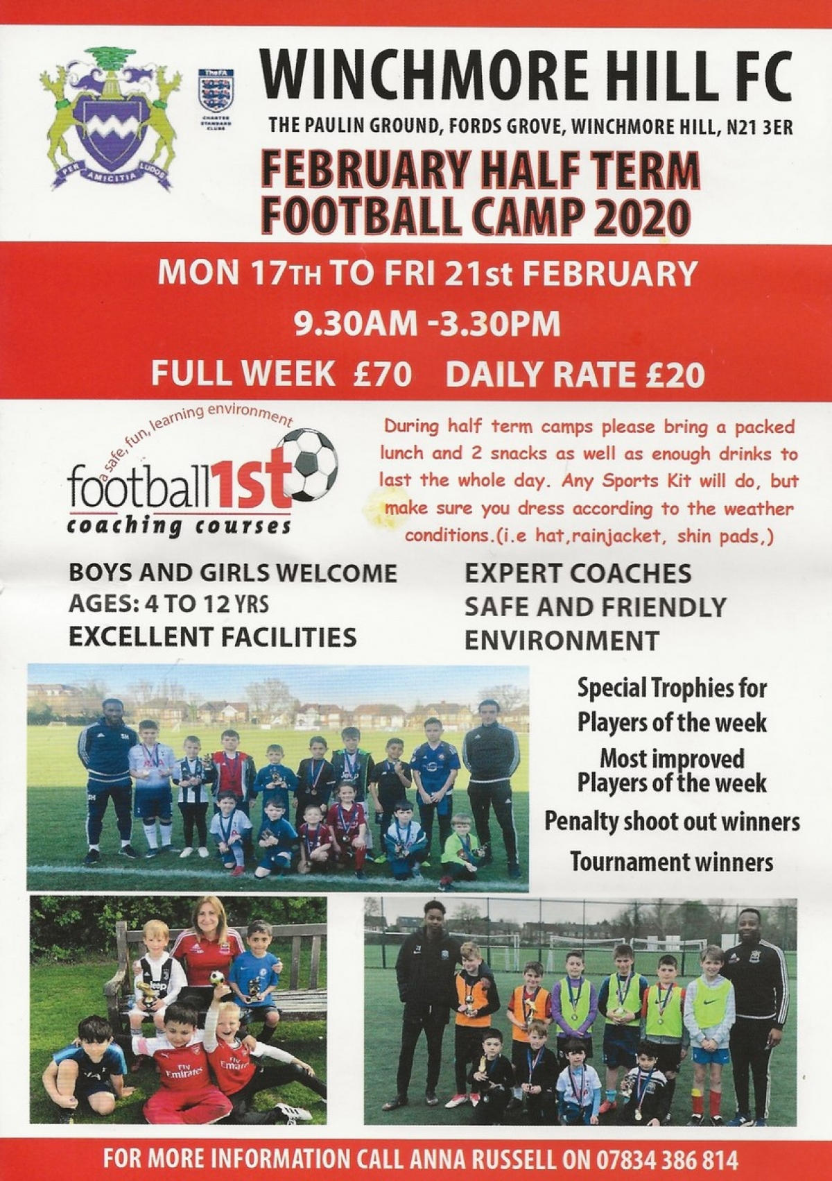 February Half Term Football Camp 2020