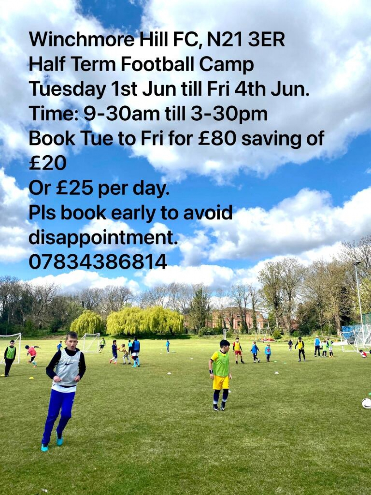 June 2021 Half Term Childrens Football Camp